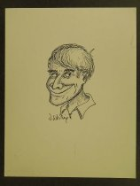 Image of Self-caricature - Whiting, Jim, 1926-2015